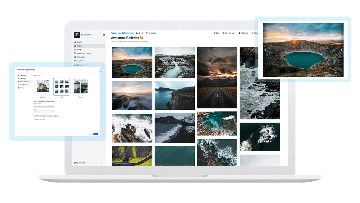 Advanced Image Gallery Plugin for Confluence