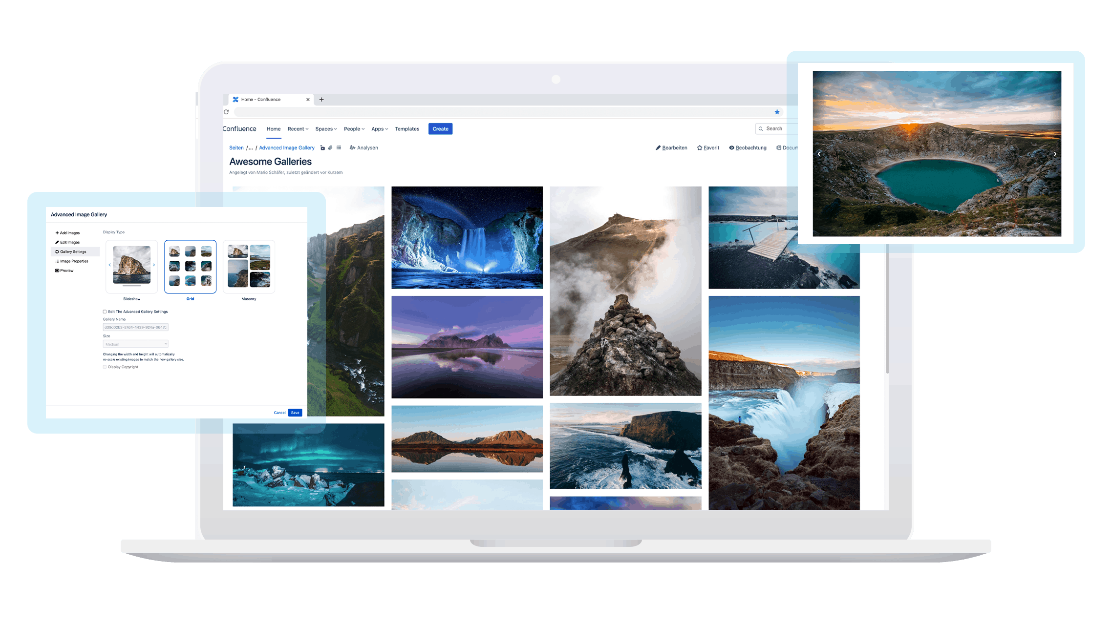 Image Gallery and Slider for Confluence