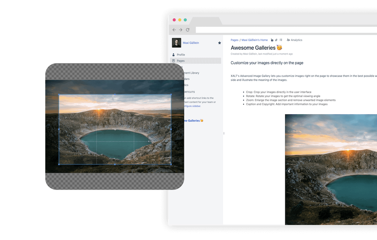 Advanced Image Gallery for Confluence