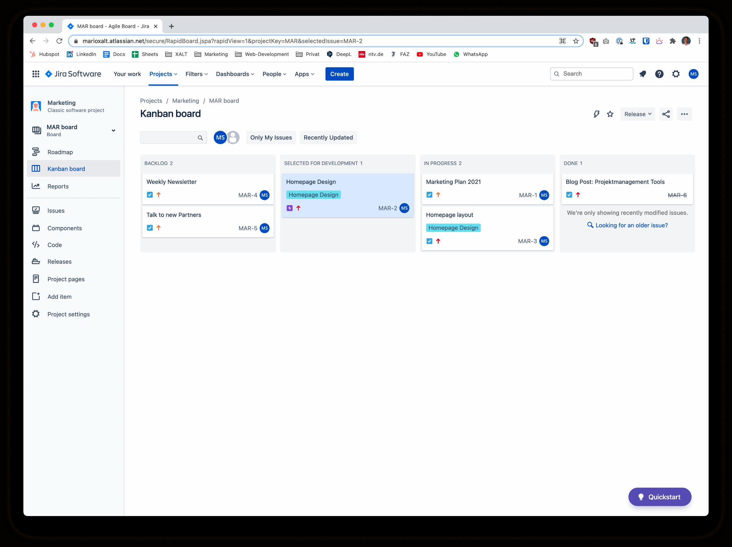 Atlassian Jira Projektmanagement Tool