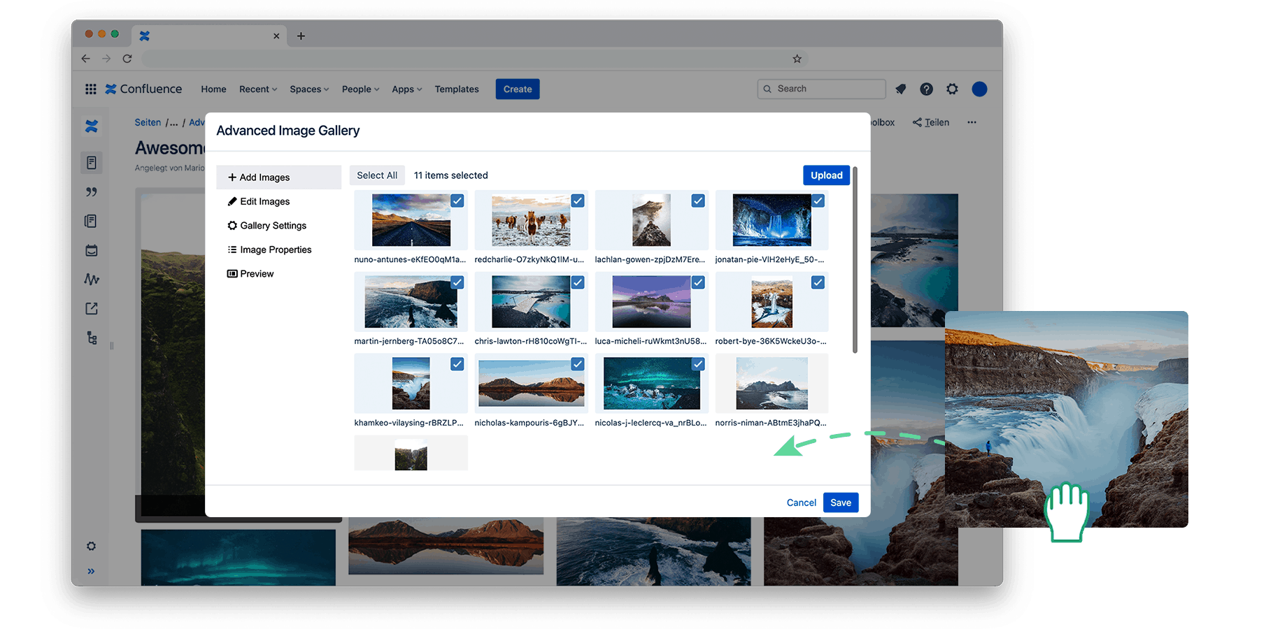 Drag and Drop Slider for Confluence