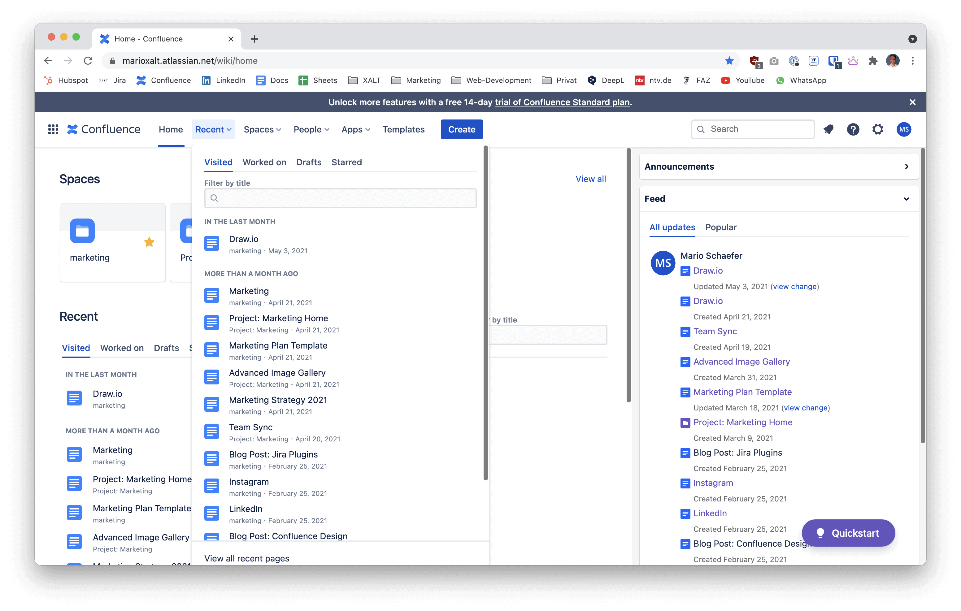 Confluence Intranet with Refined