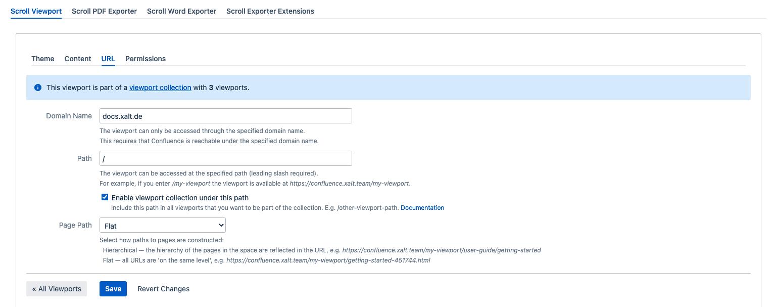 Scroll Viewport Configuration