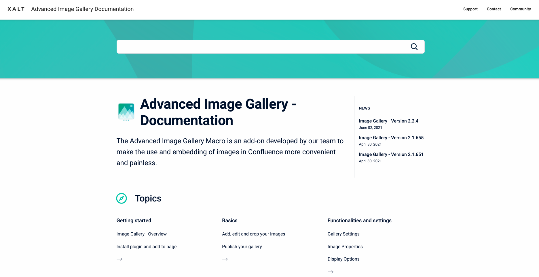 Documentation in the Confluence Help Center